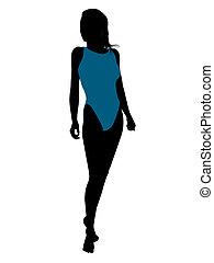 Female Swimsuit Silhouette - Female swimsuit illustration...