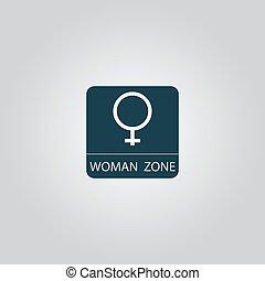 Female symbol, woman