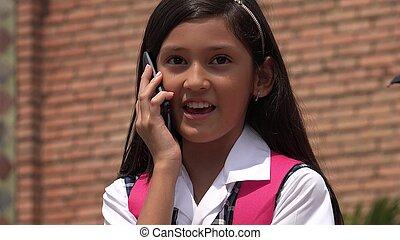 Female Talking On Phone