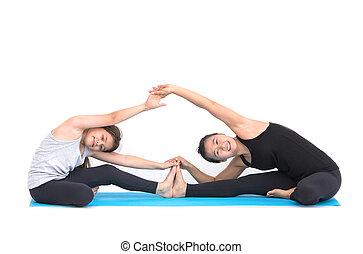 kids yoga teacher training with a little girl