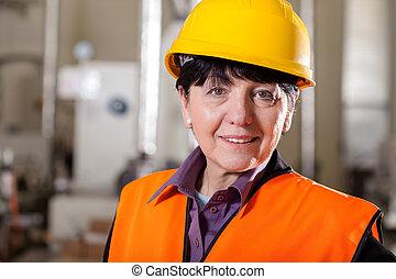 Female team manager