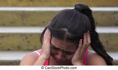 Female Teen Crying