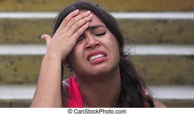 Female Teen Headache Or Fever