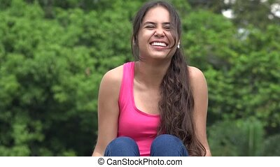 Female Teen Laughing