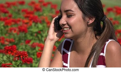 Female Teen Phone Call