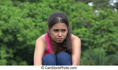 Female Teen Sadness Crying Anger Stress