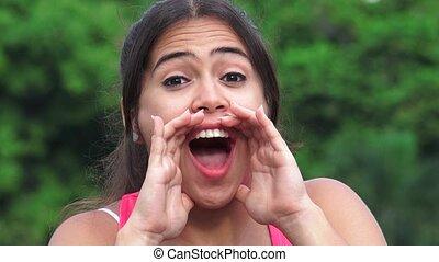 Female Teen Shouting