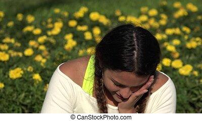 Female Teenager Crying