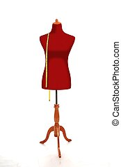Mannequin with Measurement Tape - Female Torso Mannequin...