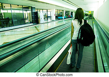 female traveller on airport