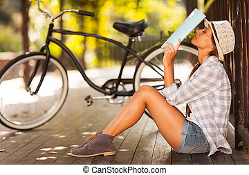 female university student outdoors