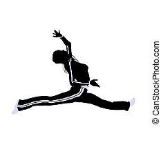 Female Urban Dance Illustration Silhouette - Female urban...