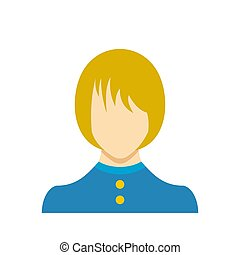 Female user icon flat