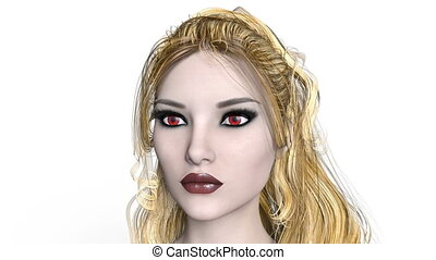 Female vampire - 3D CG rendering of a female vampire
