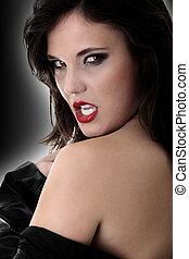Female vampire  - Portrait of a female vampire