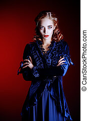 female vampire - Portrait of a gorgeous vampire woman in...