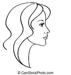 Female vector icon