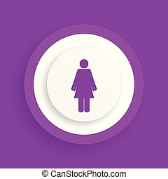 Female vector sign
