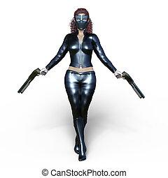 Female warrior - 3D CG rendering of a female warrior.