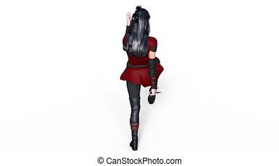 Female warrior - Image of a female warrior.