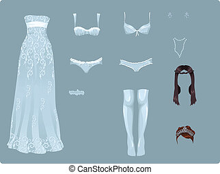 Female wedding clothes
