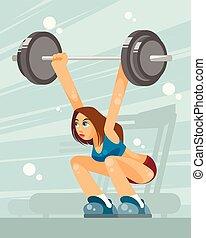 Female weight lifter