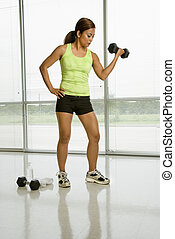 Female weightlifter.