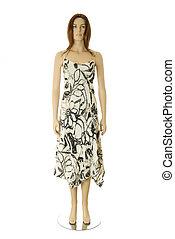 Female white dress | Isolated
