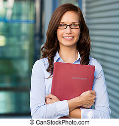 Female with book