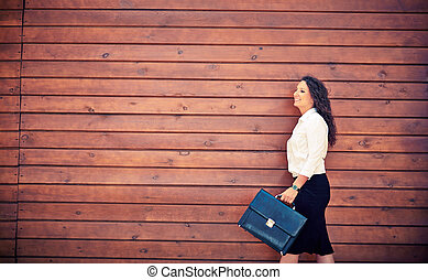 Female with briefcase