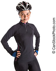 Female With Cycling Attire