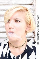 Female with smoke