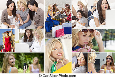 Female Women Modern Lifestyle Montage