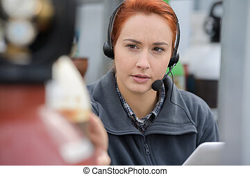 female worker in warehouse