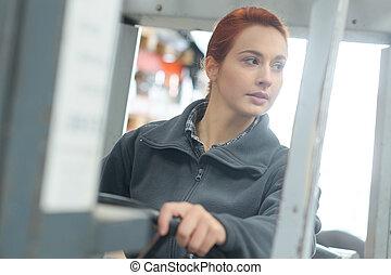 female working in a warehouse