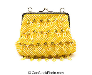 Female yellow handbag