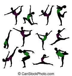 Female Yoga Illustration Silhouette - Female yoga art...