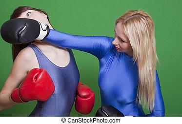 females boxing