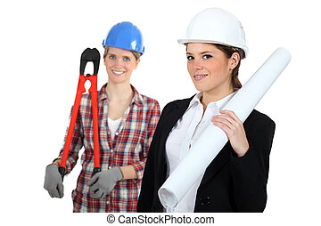 Females construction workers