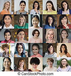 Females Headshot Collage