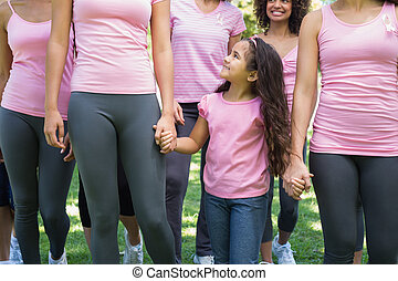 Females participating in breast cancer awareness