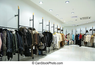 female`s upper clothes in shop