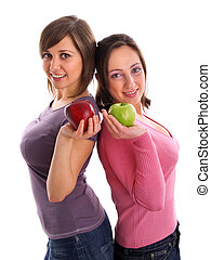 Females with apples