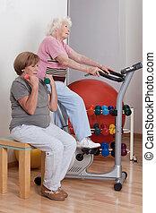 femelles, exercice, physique