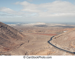 Femes viewing place in Lanzarote, Canary Islands, Spain