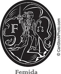 Femida - a goddess of justice