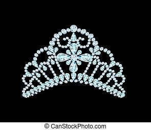 feminina, casório, coroa, diadema, pretas