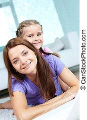 femininas, com, filha