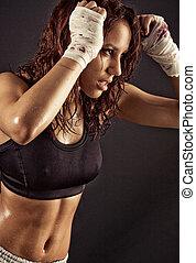 femininas, condicão física, corporal