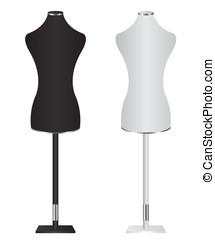 femininas, costureiras, mannequin